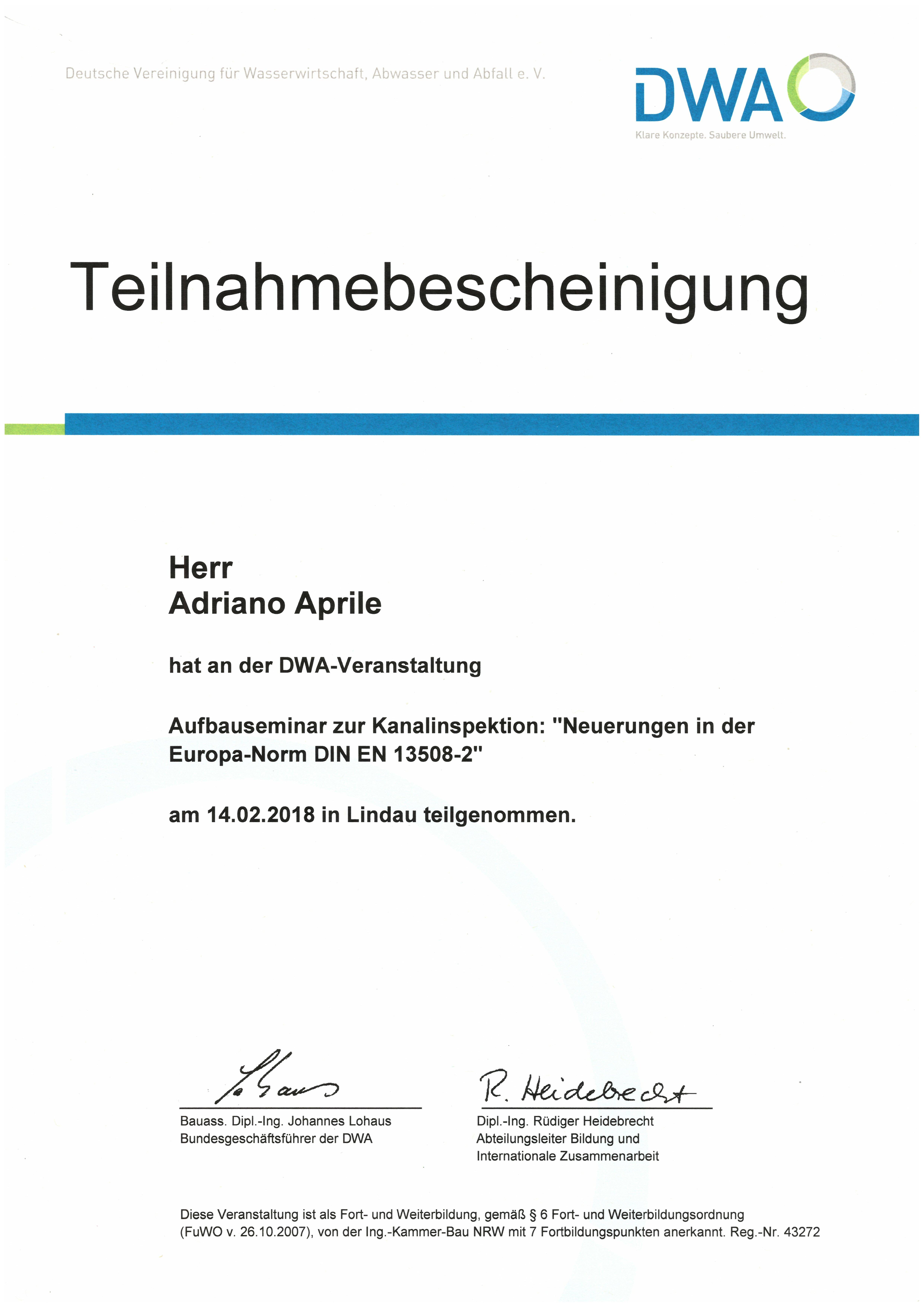 Aufbauseminar-zur-Kanalinspektion - Aprile