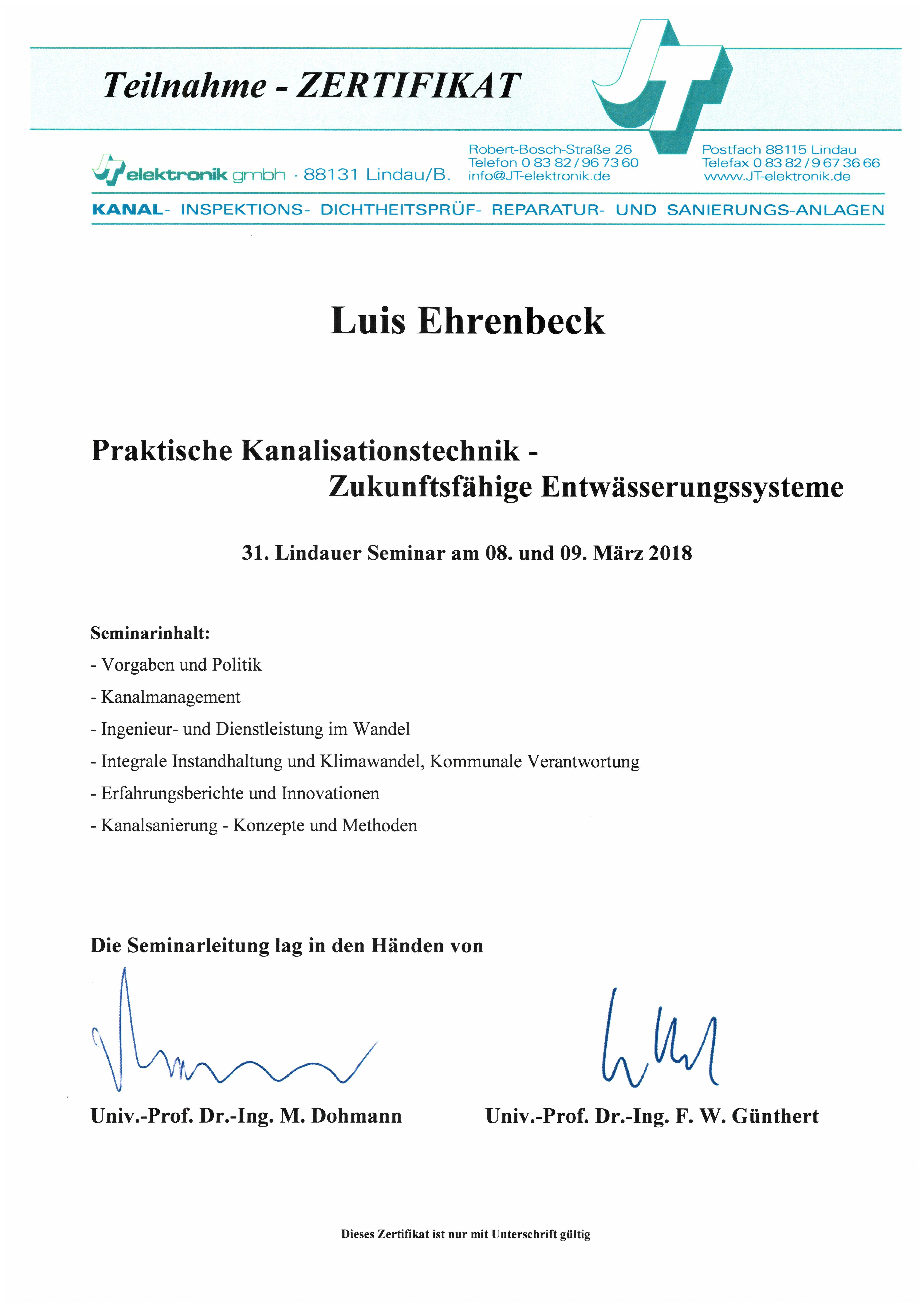 Praktische Kanalinspektionstechnik - Ehrenbeck